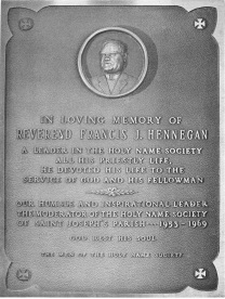 Father Hennegan Plaque